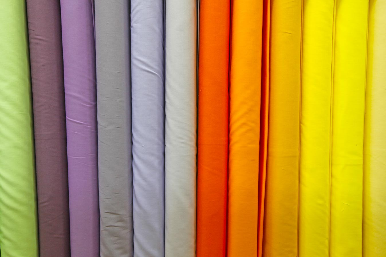 The Quilters' Patch Shop coloured fabric