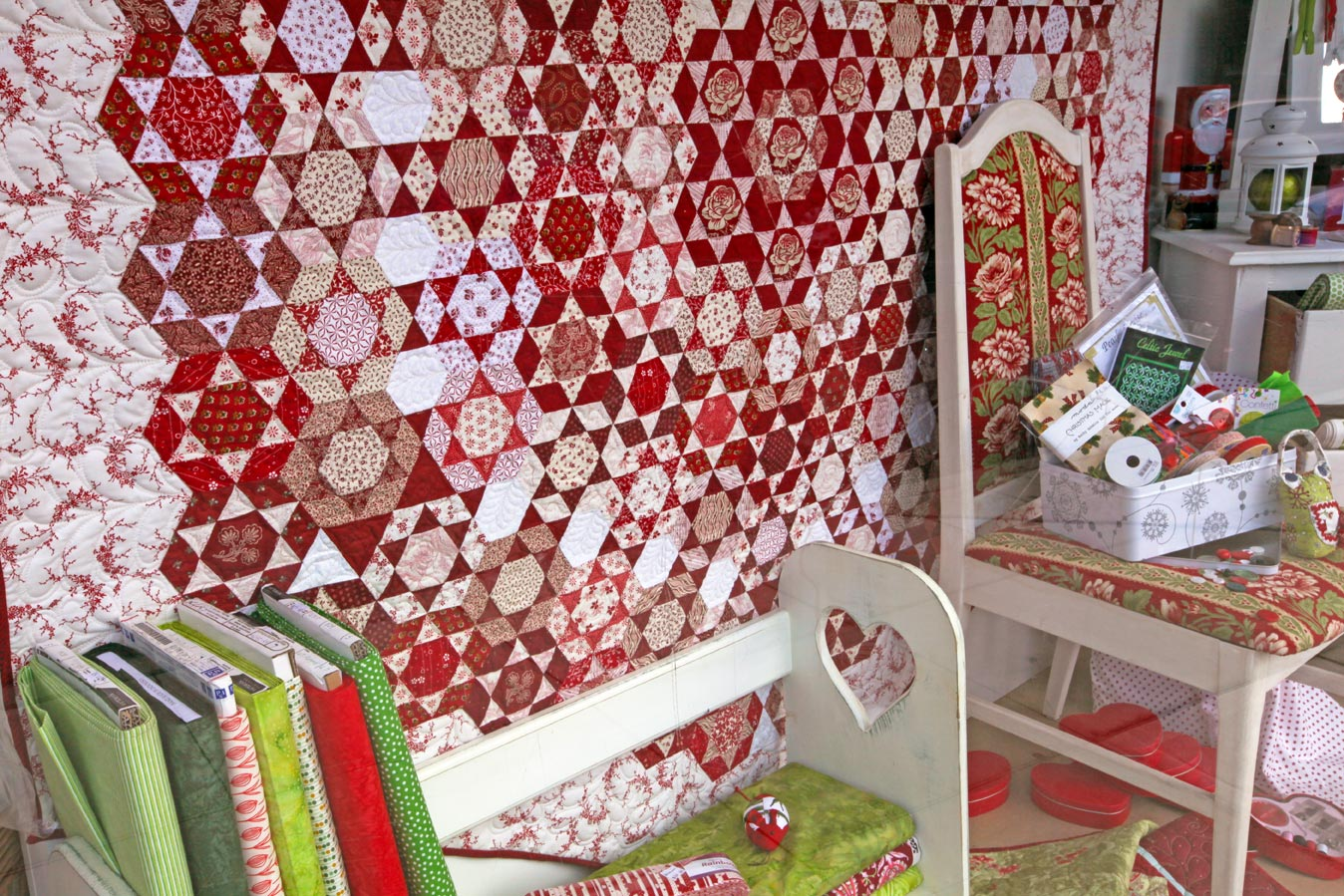 The Quilters Patch Shop quilt and chairs