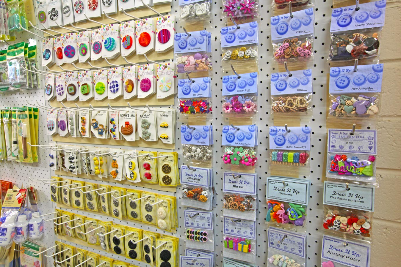 The Quilters' Patch haberdashery buttons