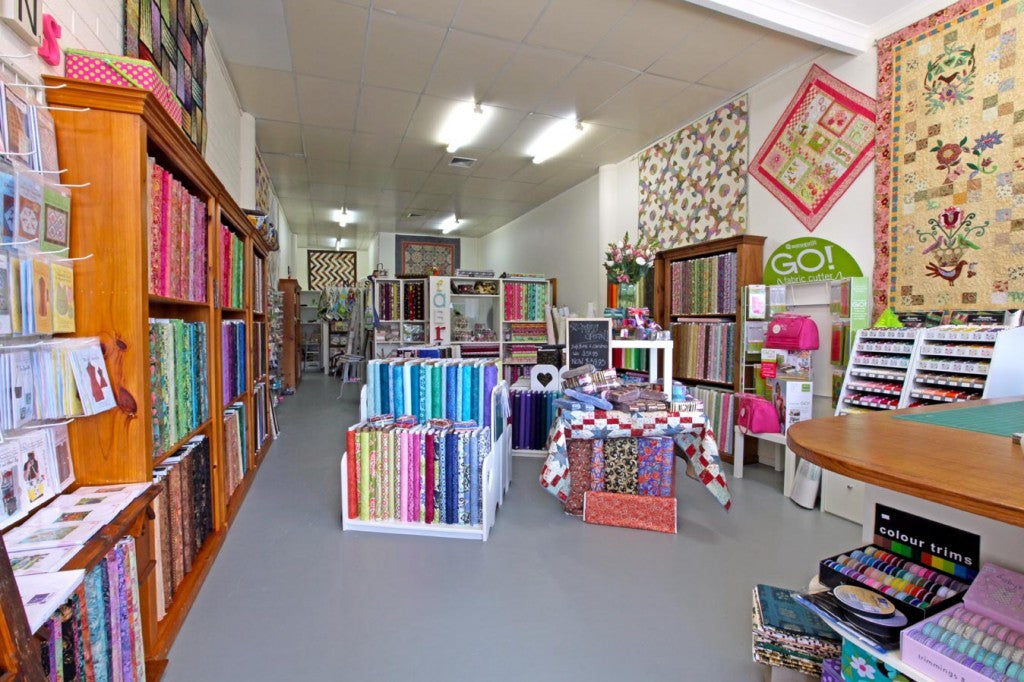 The Quilters' Patch Shop Interior - wide shot