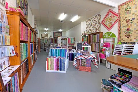 The Quilters' Patch shop interior