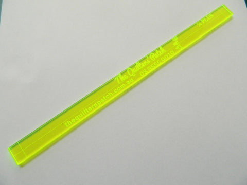 "Haberdashery Quilter's 1/4"" plus ruler."