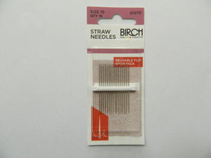 Haberdashery Birch Straw Needles size 10