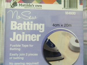 Haberdashery No Sow Batting Joiner Matildas Own MN4600