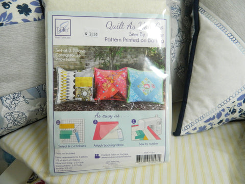Haberdashery Quilt as you go Pillows Batting By June Taylor
