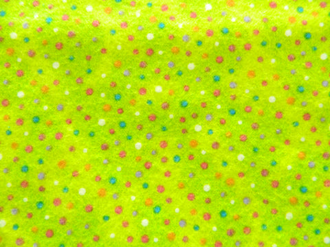 Spots & Dots Flannel Green
