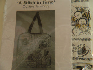 Projects. Quilters Tote Bag *A Stitch in Time*Pattern