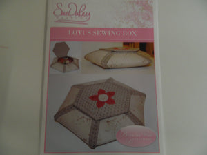 "Pattern. ""Lotus sewing box"" By Sue Daley"