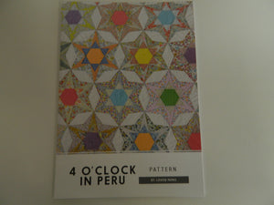"Pattern Fabric ""4 o`clock in Peru"" By Loise Papas"