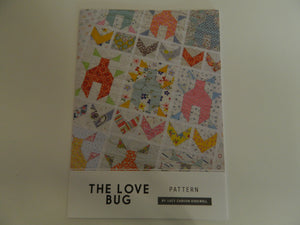 Pattern Fabric The Love Bug  By Lucy Carson Kingwell