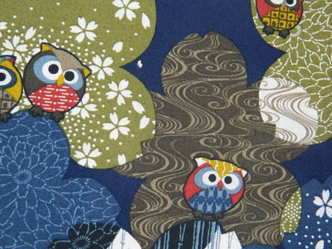 Japanese Koku  Owls Navy