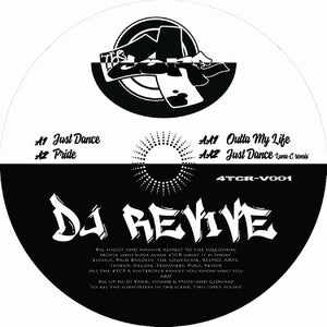 "Dj Revive - Just Dance EP -12"" Vinyl - 4 The Core Records - 4TCR-V001"