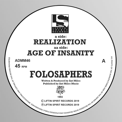 FOLOSAPHERS- Realization - Liftin Spirit Records - ADMM46
