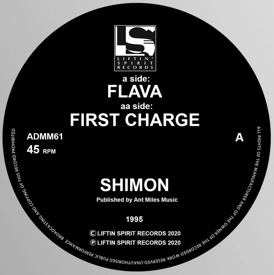 Shimon - Flava / First Charge - Liftin Spirit Records - ADMM 61 -12