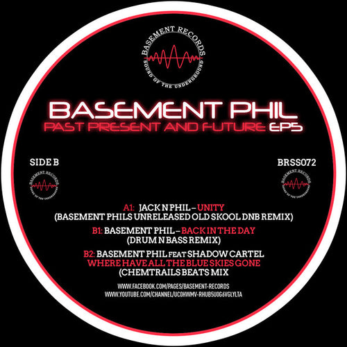 Basement Phil ‎–  Jack n Phil / Basement Phil Featuring Shadow Cartel ‎– Past Present And Future EP5  - Basement Records ‎– BRSS072