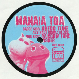 Manaia Toa, Abstract Drumz ‎– Dredd Relick / Rainbow Tune - Headwoundz Records HWR-1202