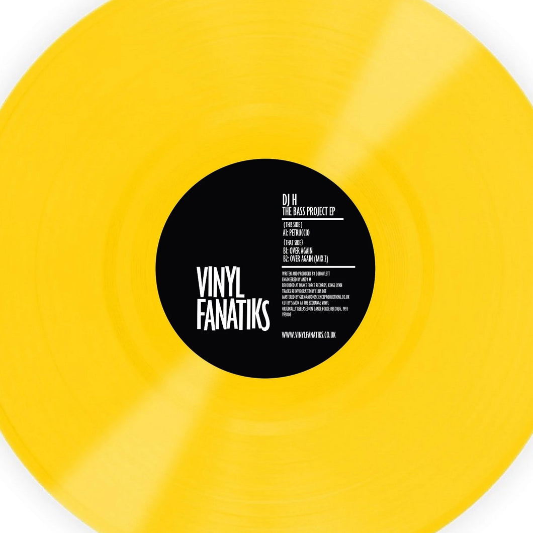 DJ H 'Bass Project' EP Limited Acid Yellow Vinyl – VFS006
