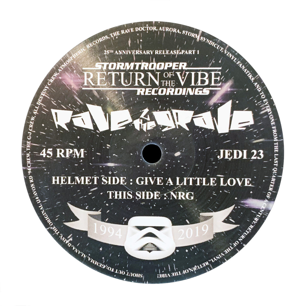 Rave 2 The Grave - Give a Little Love / NRG - Jedi Recordings 023