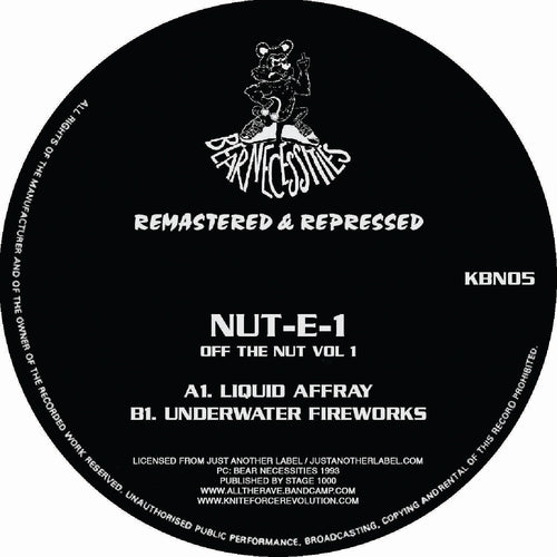 Nut-E-1 'Off the Nut Remasters EP' KBN05 Kniteforce/ Bear Necessities Records
