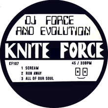 Load image into Gallery viewer, KF107 - Dj Force & The Evolution - Scream EP - Kniteforce Records - Blue Vinyl