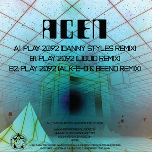 "Kniteforce KF113R - Acen - Play 2092 Remixes - 12"" vinyl"