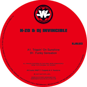 "Just Another Label - N-Zo & Invincible - Trippin' On Sunshine EP -12"" Vinyl - KJAL03"