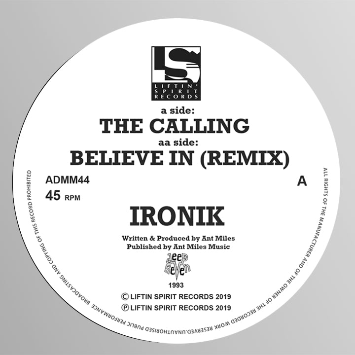 Ironik - The Calling / Believe In (Remix) ADMM44