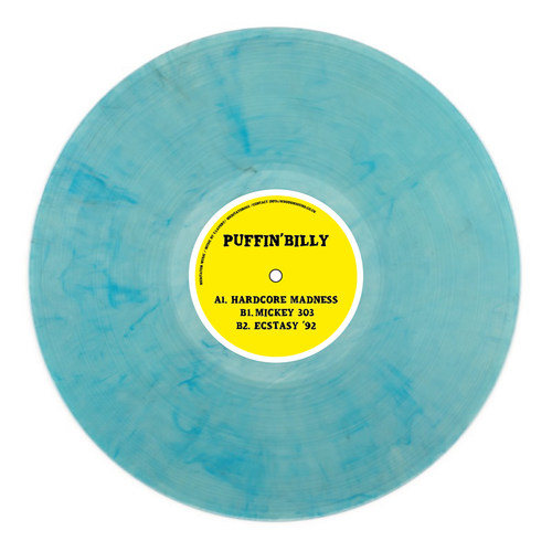 PUFFIN' BILLY - Hardcore Madness - Meditator 002 - blue marbled vinyl 12