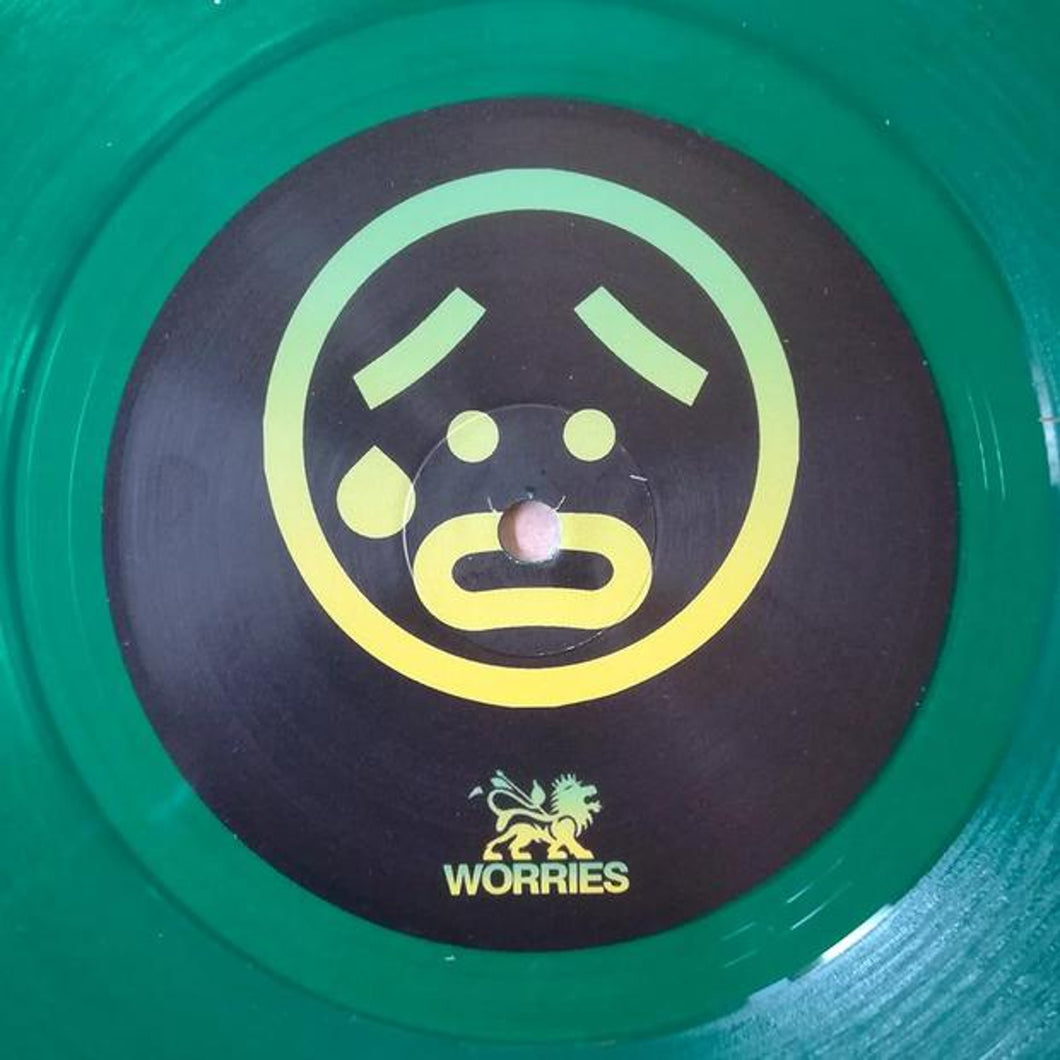 VIBEZ 93 - Unknown - The Worries / Bam Bam - NAUGHTY93002 - Clear Green 10