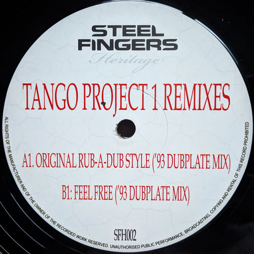 Tango - Tango Project 1 Remixes  SFH002- Steel Fingers Heritage - 12