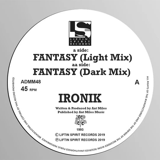 Ironik - Fantasy (Light Mix) / Fantasy (Dark Mix) -Liftin Spirit Records - ADMM48
