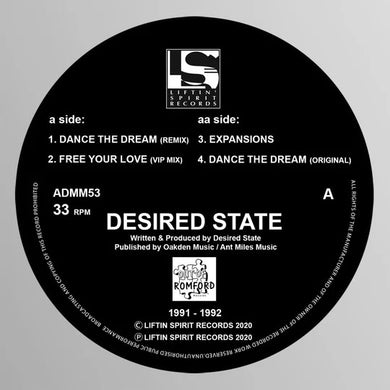 Desired State - Dance The Dream E.P -Liftin Spirit Records - Grey Vinyl -ADMM53
