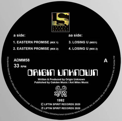 Origin Unknown - Eastern Promise E.P  -Liftin Spirit Records - ADMM58