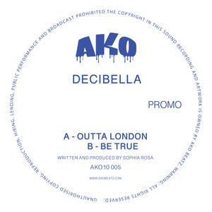 "AKO10 Series Presents: Decibella [Limited 10"" Blue Sparkle Vinyl] - AKO Beatz -: AKO10005"