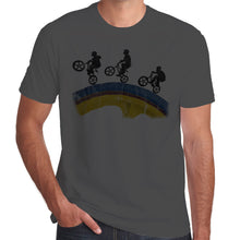 Load image into Gallery viewer, Sillouette BMX Wheel Riders distressed print T-Shirt 100% Cotton