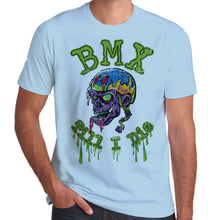 Load image into Gallery viewer, BMX Till I Die Rad Air Skull distressed print T-Shirt 100% Cotton