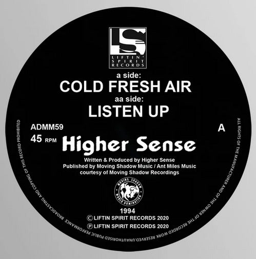 HIGHER SENSE - Cold Fresh Air - Liftin Spirit records - ADMM 59 -12