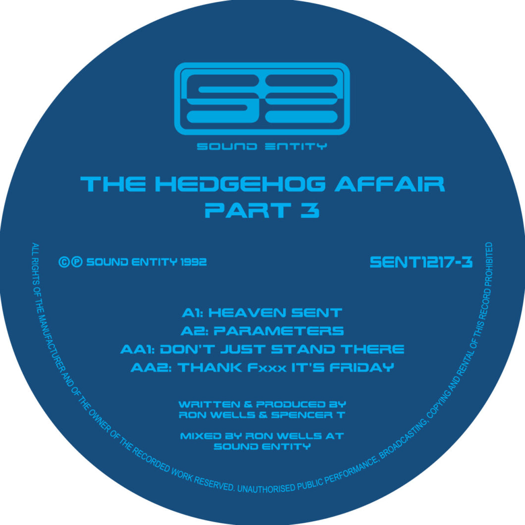 Hedgehog Affair Volume 3 - Second Rush - Sound Entity Records - Ron Wells - SE1217-3 -12