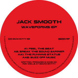 "Jack Smooth - Waveforms EP - Sound Entity Records - SE001RP -12"" vinyl repress"