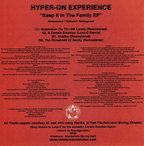 Kniteforce 96 Hyper-On Experience Keep It In The Family EP 12""