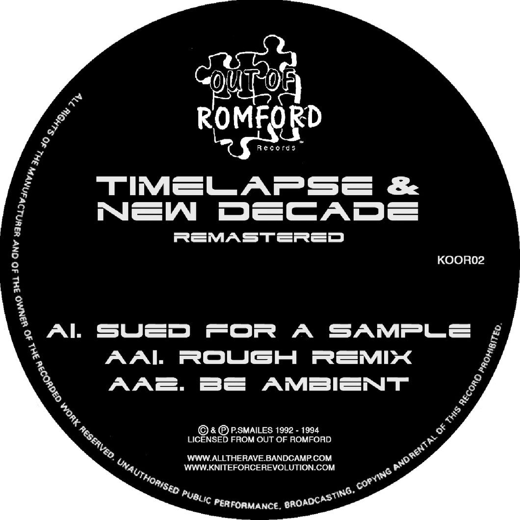 TIMELAPSE/NEW DECADE - Sued For A Sample Remasters EP (12