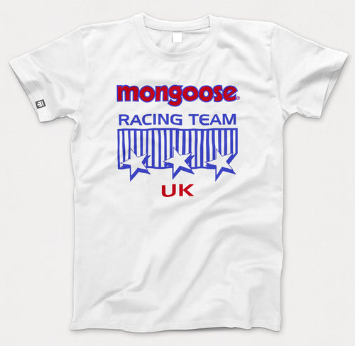 Mongoose Racing Team Uk retro white T-shirt
