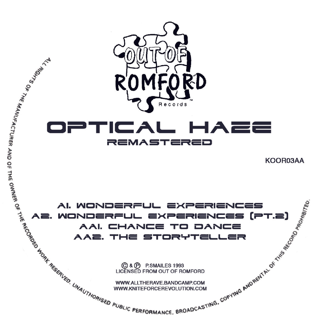 Optical Haze - Wonderful Experiences EP (Remastered) - Out Of Romford Koor 03