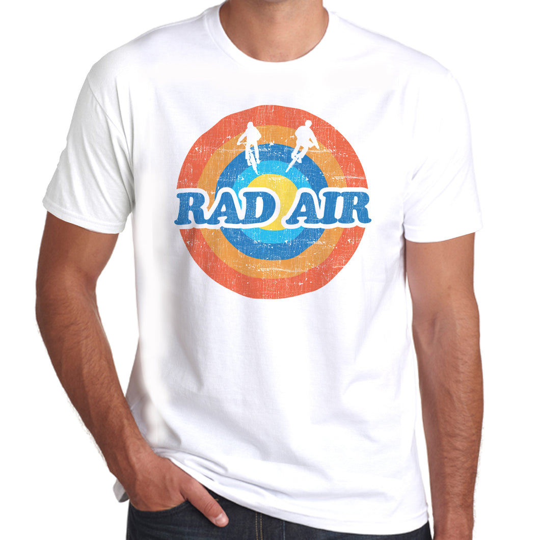 Rad Air Roundel Twin Air retro distressed print T-Shirt 100% Cotton