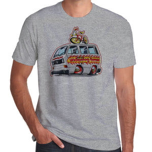 Underdog BMX T25 Team Bus with Flame Job 100% cotton T-Shirt