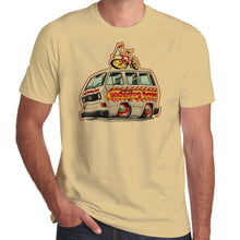 Load image into Gallery viewer, Underdog BMX T25 Team Bus with Flame Job 100% cotton T-Shirt