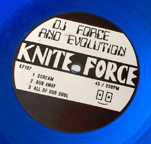 KF107 - Dj Force & The Evolution - Scream EP - Kniteforce Records - Blue Vinyl