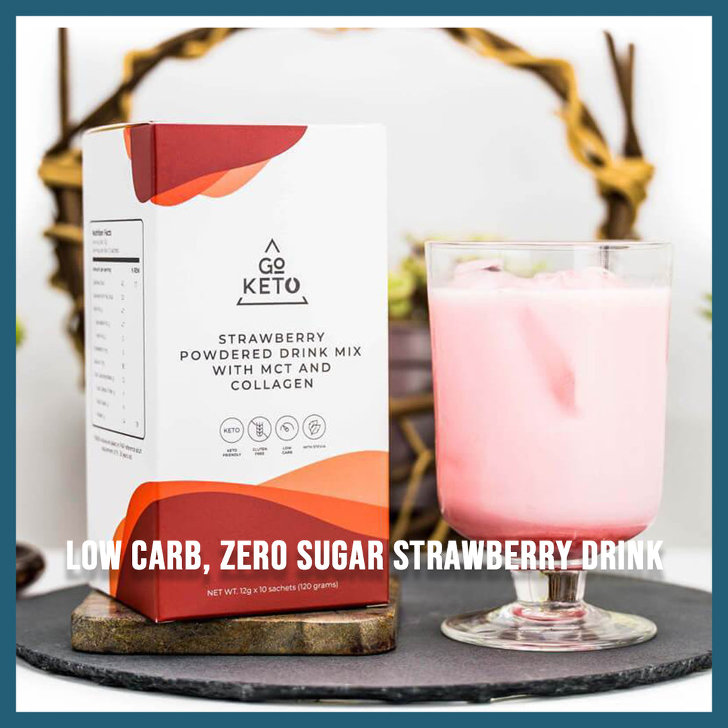 Keto Strawberry Drink with MCT