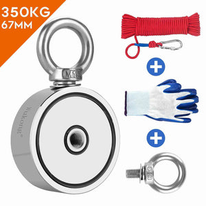 fishing magnet, magnet fishing rope, gloves