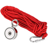 Fishing Magnet with 66ft Rope & Glove 760LB Pulling Force
